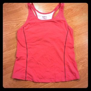 Nike Racer Back Athletic Tank Built in Bra